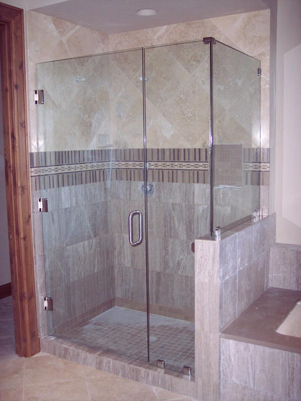 Glass shower rooms